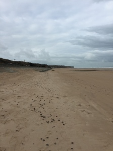 Standing directly on Omaha Beach.