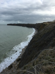 The cliffs at Pointe du Hoc