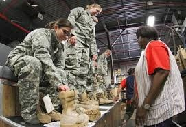 If you're from Oregon, you can't get boots though.  Army regulation.